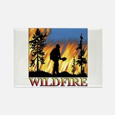 Wildfire Rectangle Magnet