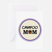 Cavapoo Dog Mom Greeting Cards