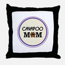 Cavapoo Dog Mom Throw Pillow