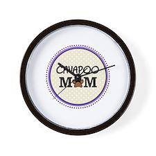 Cavapoo Dog Mom Wall Clock
