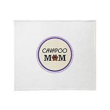 Cavapoo Dog Mom Throw Blanket