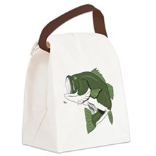Largemouth Bass Canvas Lunch Bag