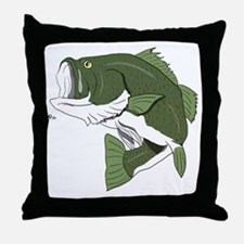 Largemouth Bass Throw Pillow