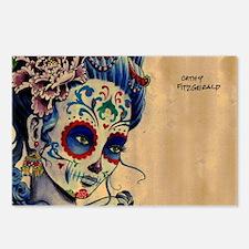 Marie de los Muertos coin Postcards (Package of 8)