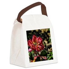 deep red rose Canvas Lunch Bag