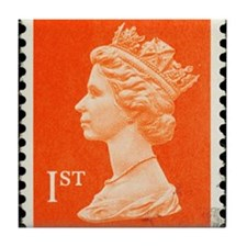 UK First Class Stamp Tile Coaster
