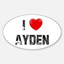 I * Ayden Oval Decal