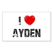 I * Ayden Rectangle Decal