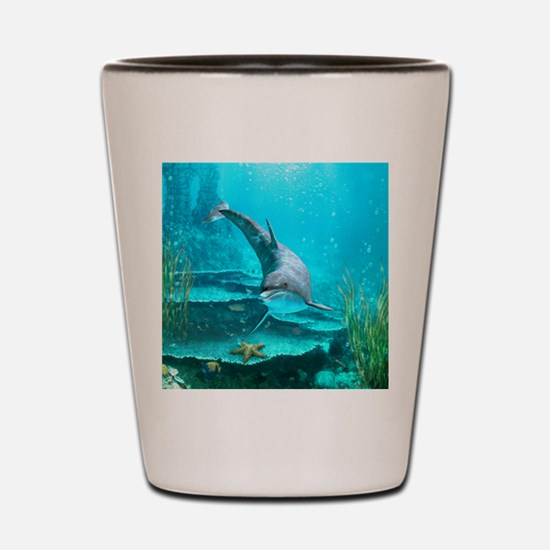 dolphin_mini_button Shot Glass