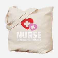 nurseHealWorld1B Tote Bag
