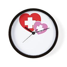 nurseHealWorld1B Wall Clock