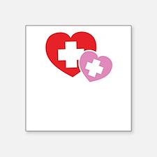 "NursingCare1B Square Sticker 3"" x 3"""