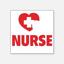 "NursingCare1H Square Sticker 3"" x 3"""