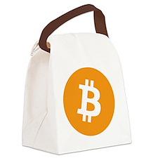 Bitcoin logo Canvas Lunch Bag
