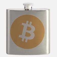 Bitcoin logo Flask