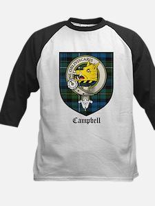Campbell Clan Crest Tartan Kids Baseball Jersey