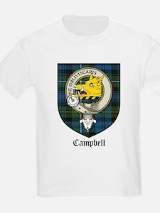 Campbell Clan Crest Tartan Kids T-Shirt