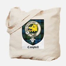 Campbell Clan Crest Tartan Tote Bag