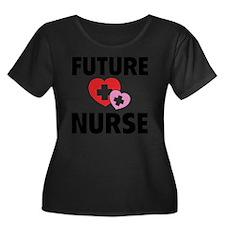 futureNu Women's Plus Size Dark Scoop Neck T-Shirt