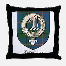 Carmichael Clan Crest Tartan Throw Pillow