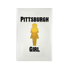 Pgh Girl Rectangle Magnet (10 pack)