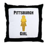 Pgh Girl Throw Pillow