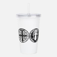 Cute Medal of st. benedict Acrylic Double-wall Tumbler