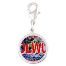 On-Line Workers Union Collage  Silver Round Charm