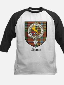 Chattan Clan Crest Tartan Kids Baseball Jersey