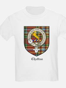 Chattan Clan Crest Tartan Kids T-Shirt