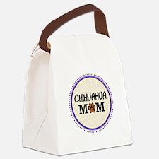Chihuahua Dog Mom Canvas Lunch Bag