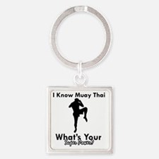 muay thai Square Keychain