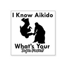 "Aikido Square Sticker 3"" x 3"""