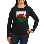 Welsh Coat of Arms Women's Long Sleeve Dark T-Shir
