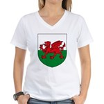 Welsh Coat of Arms Women's V-Neck T-Shirt
