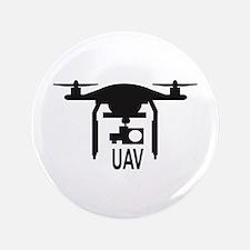 """UAV Drone Silhouette 3.5"""" Button"""