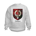Chisholm Clan Crest Tartan Kids Sweatshirt