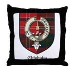 Chisholm Clan Crest Tartan Throw Pillow