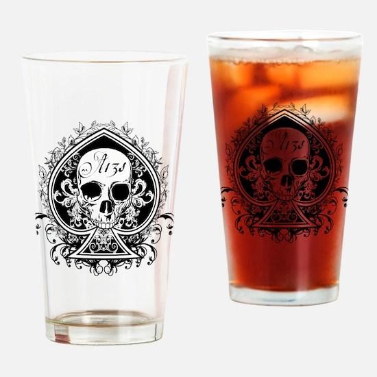 AceSkull Drinking Glass