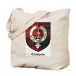 Chisholm Clan Crest Tartan Tote Bag