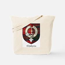 Chisholm Clan Crest Tartan Tote Bag