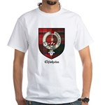 Chisholm Clan Crest Tartan White T-Shirt