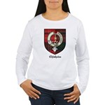Chisholm Clan Crest Tartan Women's Long Sleeve T-S