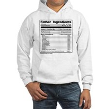 Father Ingredients Label, Fun Pa Hoodie