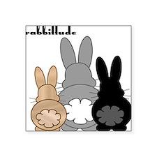 """Rabbittude Posse Square Sticker 3"""" x 3"""""""