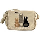 Rabbit Canvas Messenger Bags