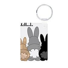 Rabbittude Posse Keychains