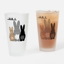 Rabbittude Posse Drinking Glass