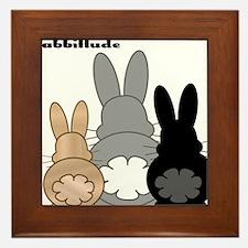 Rabbittude Posse Framed Tile