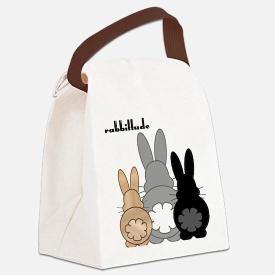Rabbittude Posse Canvas Lunch Bag